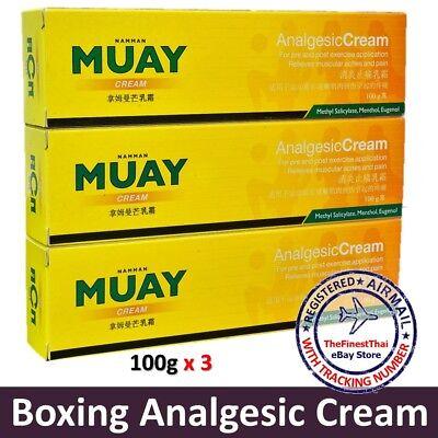 100g x 3 Namman Muay Thai Boxing Cream Analgesic Pain Relief Balm + Tracking No.