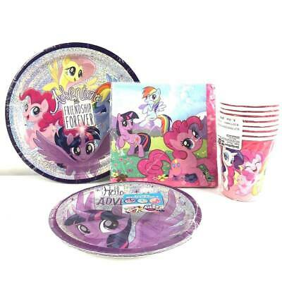 My Little Pony Party Supplies Express Pack for 8 Guests (Cups Napkins & Plates) - Cups For Parties