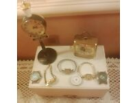 joblot of clocks and watches