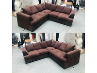 DUAL ARM JUMBO CORD CORNER OR 3+2 SOFA SET ( AVAILABLE IN 7 COLOURS)