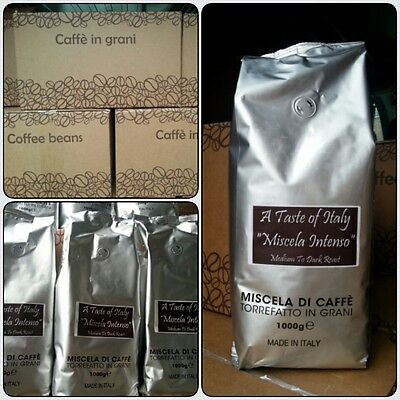 A Taste of Italy 1kg of Coffee Beans Miscela INTENSO  100% Pure Coffee
