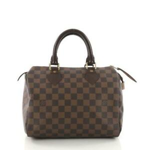 d5fb6c43eac1 Louis Vuitton Speedy 25 Damier Ebene Canvas for sale online