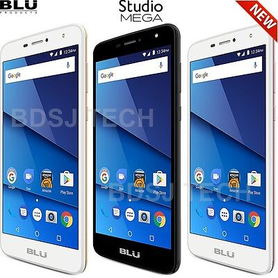 Blu Studio Mega  8Gb  6 0  Xl Android 7 0 Dual Sim Gsm Factory Unlocked S610p