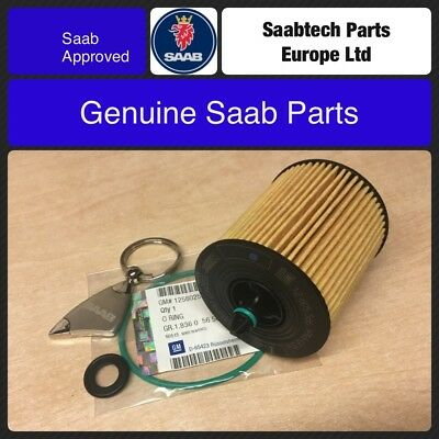 Genuine Saab 93 9-3 B207 Petrol 2003-2012 Oil Filter And Seals 12605566