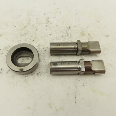 .375 X .750 .012 Oval Die Punch Cnc Turret .625 Punch Shank Lot Of 3