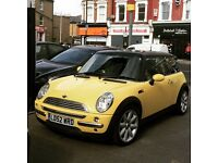 Yellow Mini Cooper in Great Condition, Parking Sensors, Leather Trim Seats, Full Electric Sunroof