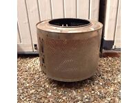 Fire pit - washing machine drum - welded base - collect Happisburgh
