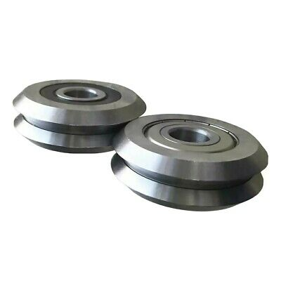 Two Rm3 W3 Roller Bearing Deep V Groove Guide Wheel Track Roller...