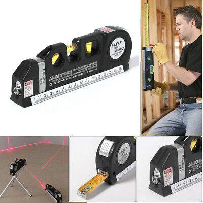 Laser Level Meter Horizontal Vertical Measuring Detector Straight Tools