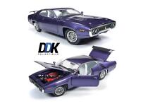 Auto World 1:18 American Muscle 1971 Plymouth Road Runner 440+6 Purple AMM1182