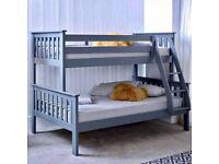 Trio Wooden Bed Frame Wi Mattress Option
