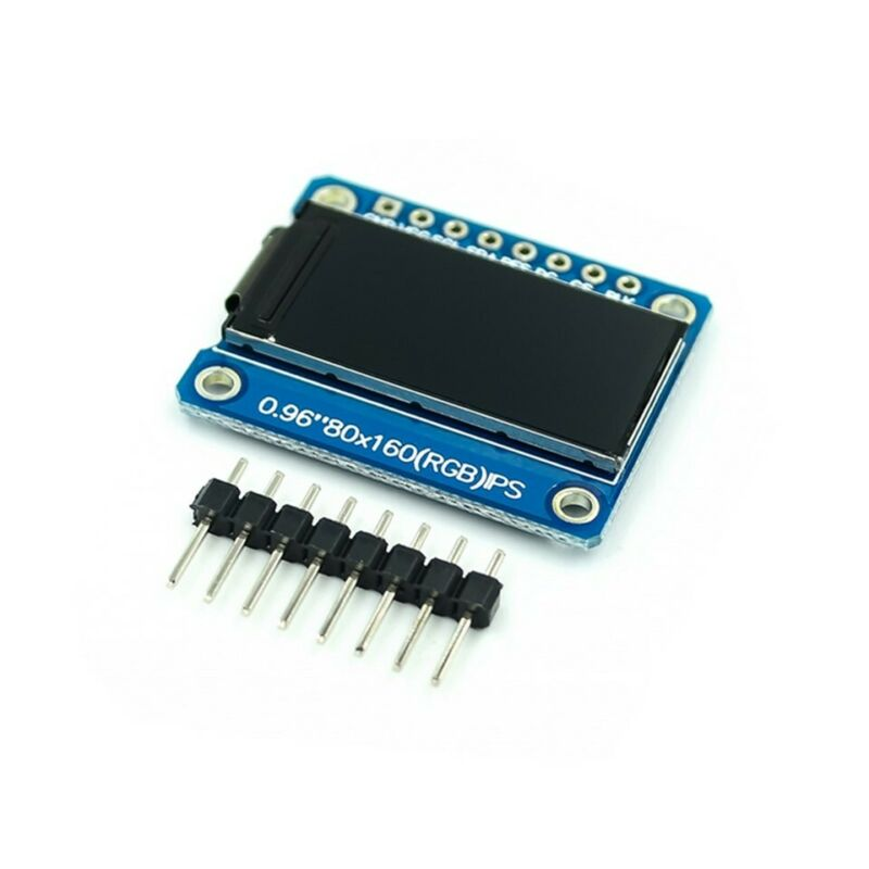 0.96 Inch 8Pin HD Color IPS Screen TFT LCD Display SPI ST7735 Module For Arduino