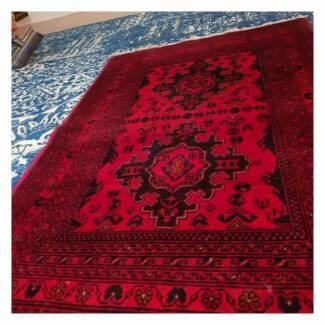 Handmade 100% wool pile Thick Afghan beautiful rug