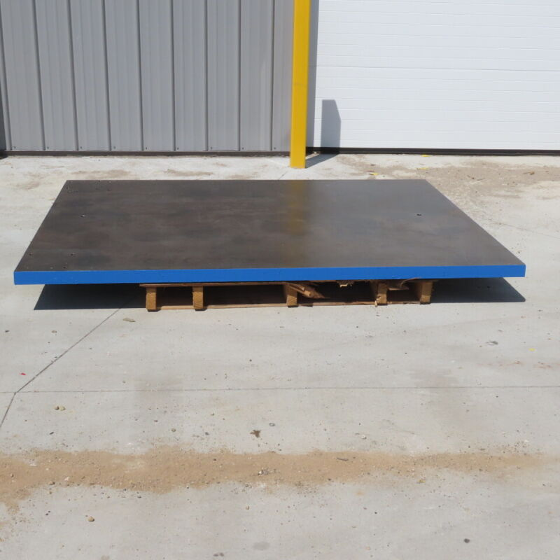 """75x60x2"""" Machined Surface Steel Fabrication Layout/Inspection Machine Table Top"""