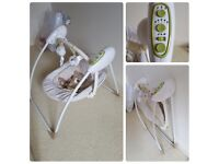 Baby swing, car seat, door bouncer, bath seats