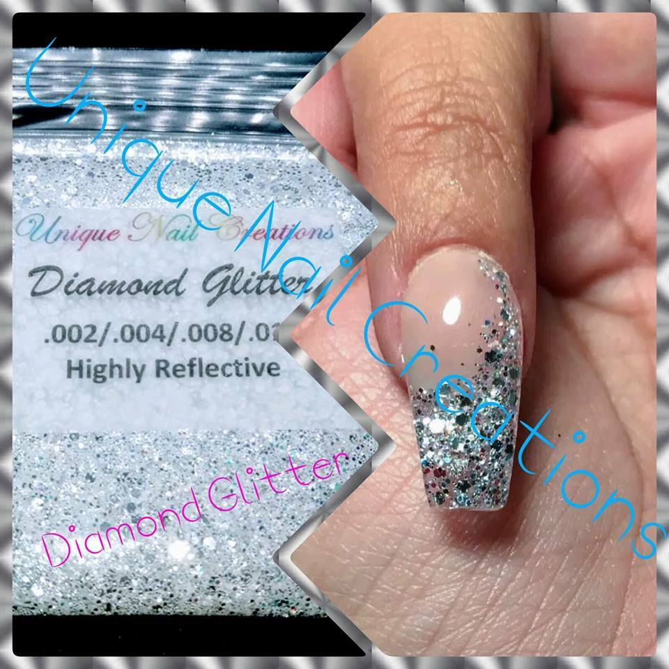 Diamond Glitter~CosmeticGrade~Solvent-Resistant-Makeup-Acrylic-Gel Nail~Festival