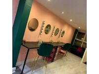 Spaces to rent in salon - Nail, Hair and Makeup stations available to rent in Mollie Cosmetics Salon