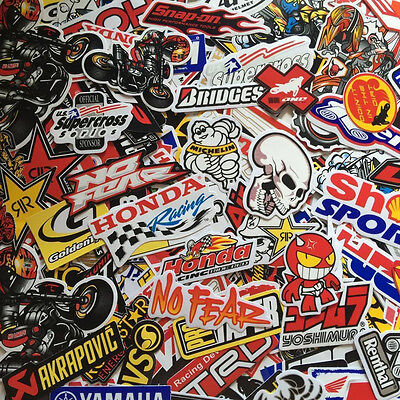 New Mixed Random Stickers Decal Motocross Motorcycle Car ATV Racing Bike Helmet