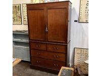 Antique linen press cabinet