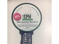 CPM CLEANING _ 20% Off first monthly invoice!