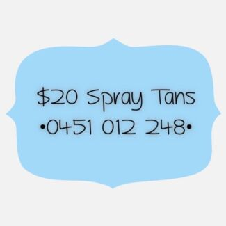 Spray Tanning - $20 - Willetton Willetton Canning Area Preview