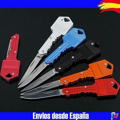 Navaja Pequeña en forma de llave, plegable para llavero, varios colores, Knife