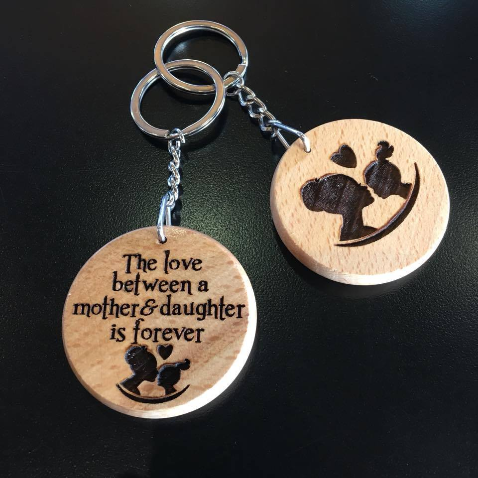 Mother and Daughter Large Key Ring
