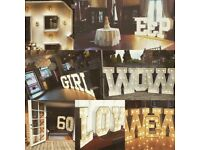Giant marquee letters for hire.