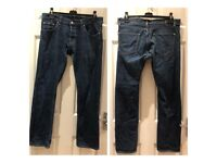 "Hugo Boss Jeans UK size 34""/33"" - 99% cotton, 1% Elastane"