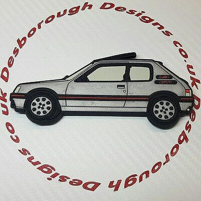 Peugeot 205 gti fridge magnets , Silver
