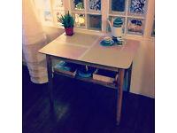 Geometric retro console table / dining table / desk