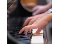Individual and group lessons in piano, recorders oboe and theory by experienced teacher.
