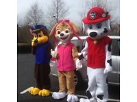 MASCOT COSTUME HIRE, MEET AND GREET SERVICE OR SWEET HAMPER DELIVERY