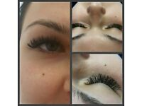 Russian volume (2D-6D) eyelash extensions and waxing