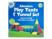 Adventure Play Tent & Tunnel 3 Piece Set