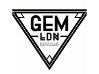 Looking for a Bartender/Waitress to join our amazing team at Gem LDN Soho.