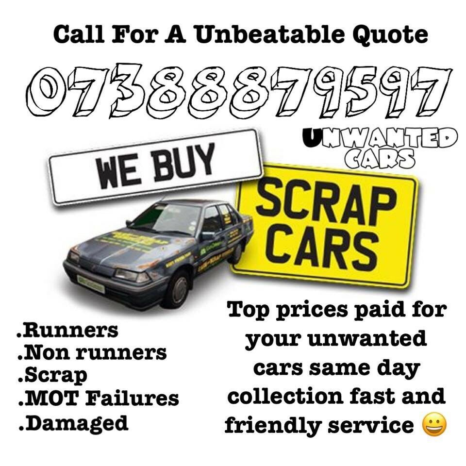Scrap my car scrap car cars wanted for cash TOP PRICE GARANTEED for ...