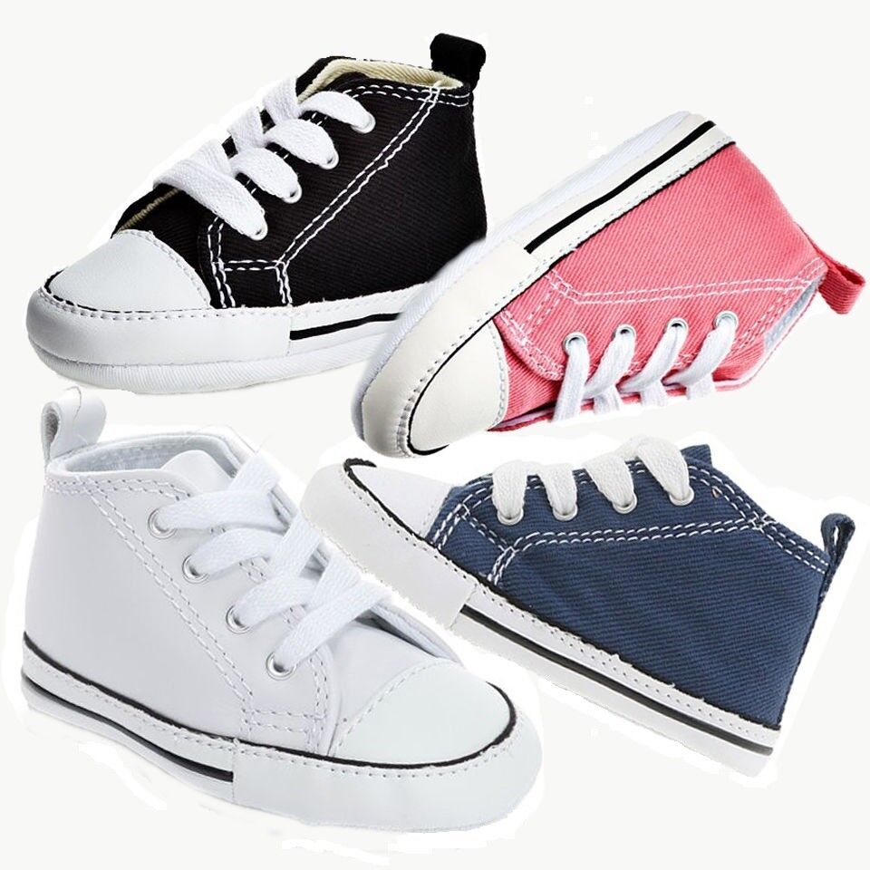 Converse First Star New Born Shoes Colors -Navy / Pink / Black / OPTWhite