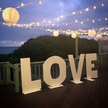 Giant LOVE letters for hire wedding engagement party Box Hill South Whitehorse Area Preview