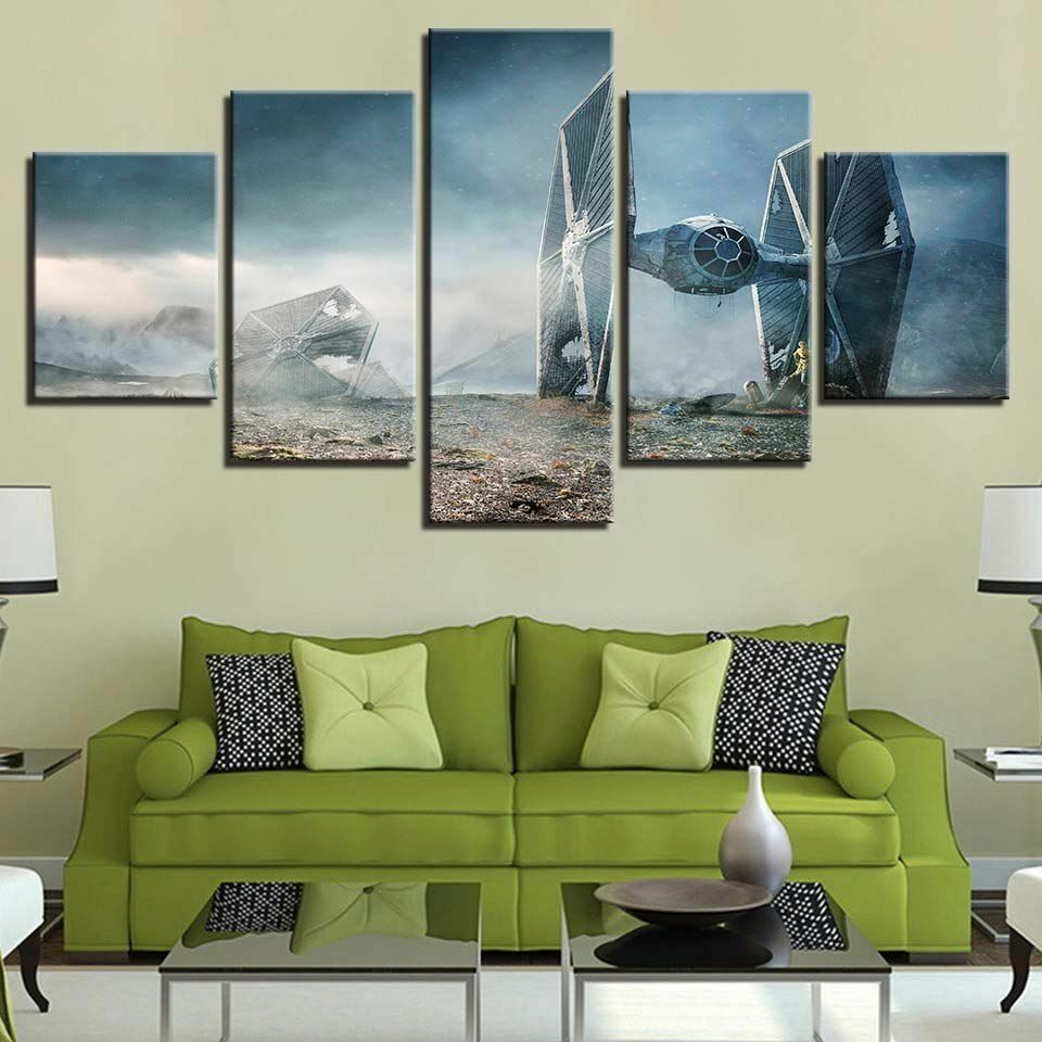 Home Decor Wall art,picture HD printed on canvas, Star Wars man V 3PC Unframed
