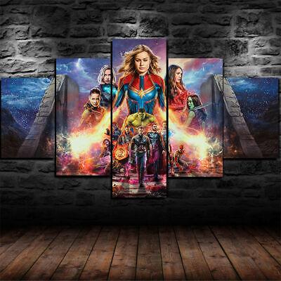 Avengers Endspiel Film Fünf Teile Gerahmt Leinwand Wohndeko Wandkunst 5 ()
