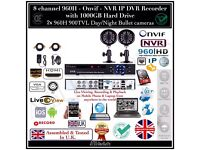 2 Cameras Full CCTV Kit, 8CH 960H DVR 1TB HDD, 2x 900TVL Bullet Cameras