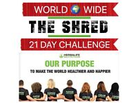 World-Wide 21 Day 'The Shred' Challenge Starts 27/08/18.