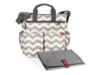 Skip Hop Duo Signature Changing and Double Bottle Bag (Plus Car Seat Cover) - Chevron