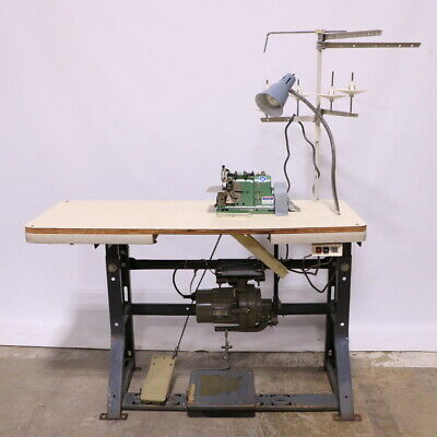 Merrow Mg-3dw-2 Sewing Machine Consew Kp-3 Motor Table