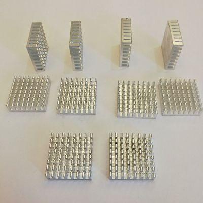 Us Stock 10pcs 28mm X 28mm X 8mm Aluminum Heatsink For Ic Mosfet Scr Cp Led Ah01