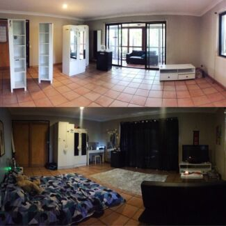 Large room with outdoor section for rent- couples welcome