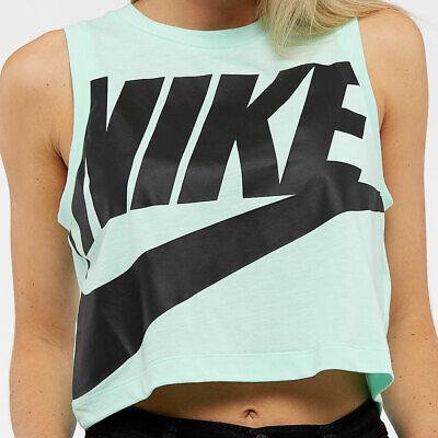 Nike Sportswear Womens Essential Tank Crop Top Mint Foam - 872950-381 X Large