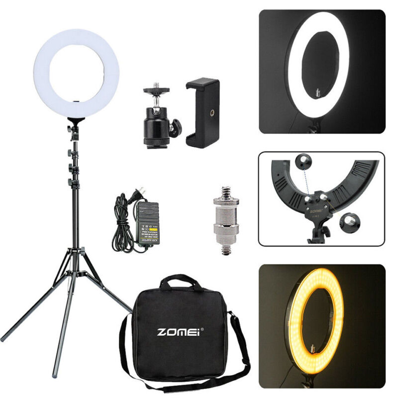 ZOMEI 18inch 5500K LED Ring Light Dimmable Stand for YouTube phone Makeup Live