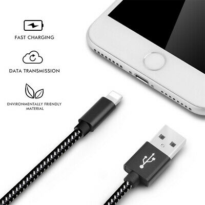 4Pc/Pack USB Nylon Braided Charge Cable For Iphone X XR Fast Charge Cable 3-10FT